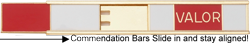 commendation bar holder