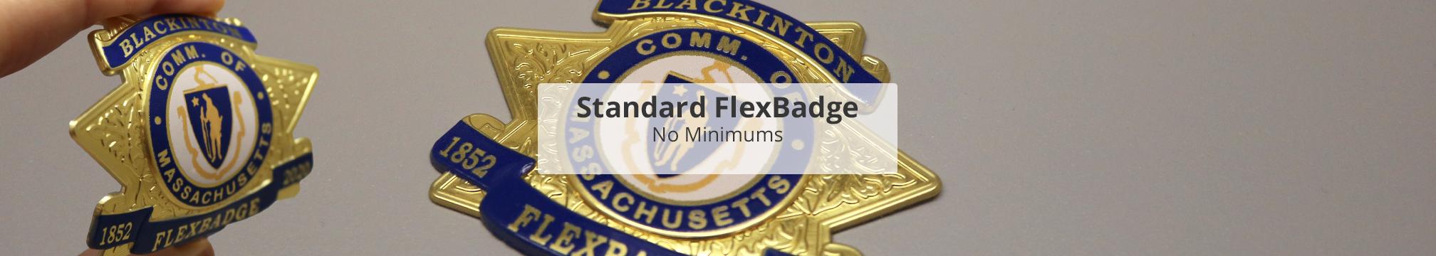 Standard 3d metallic emblem flexbadge